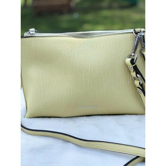 Calvin Klein Sonoma Lemon yellow crossbody clutch